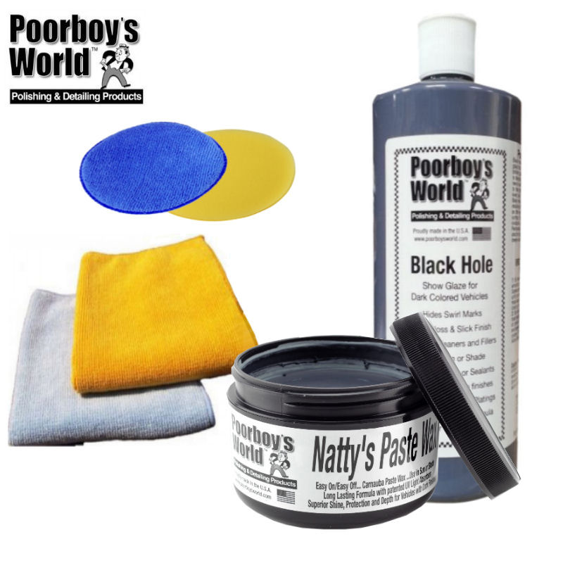 Poorboys 16oz Black Hole & Poorboys 8oz Natty's Paste Black